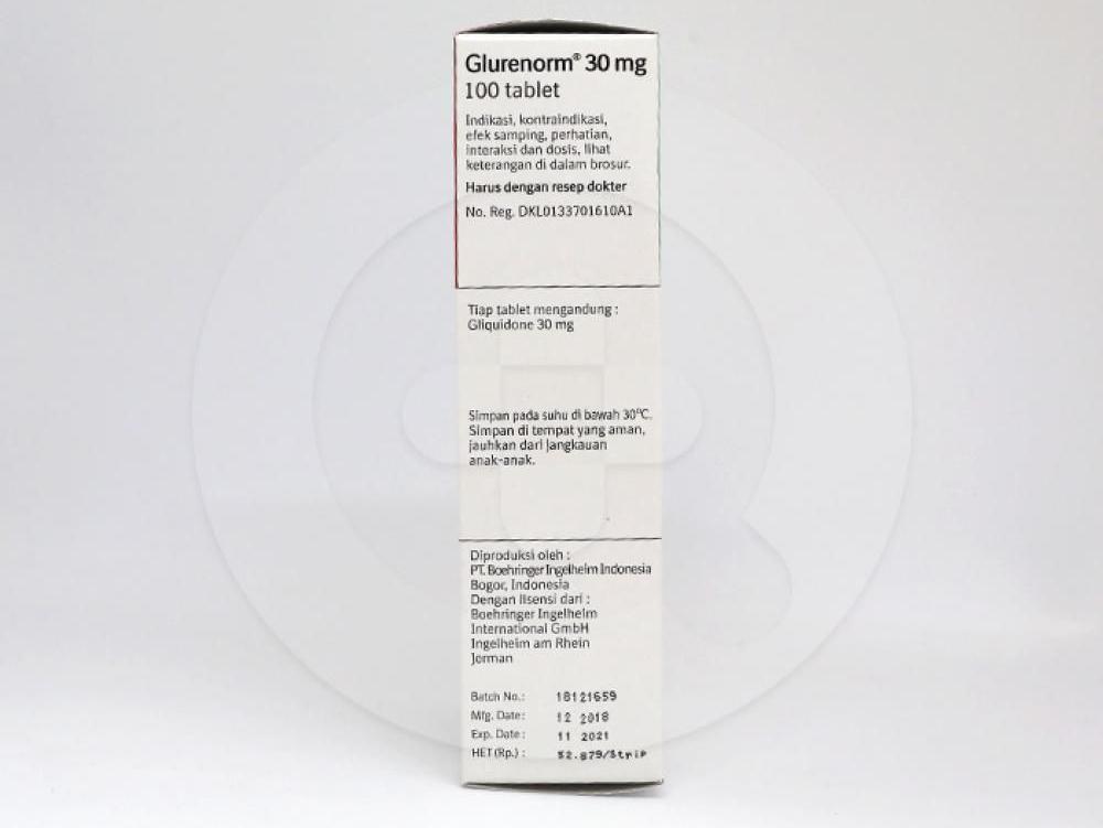 Gluronerm tablet 30 mg