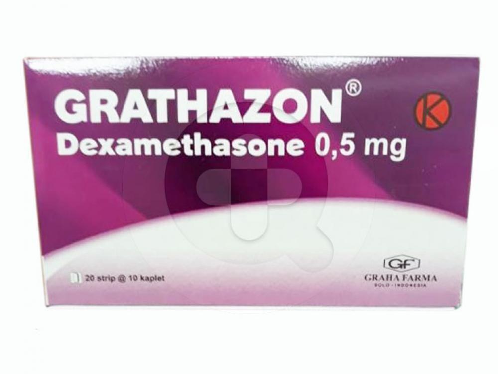 Grathazon kaplet digunakan untuk mengobati peradangan dan alergi.