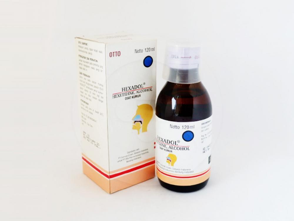 Hexadol obat kumur 120 ml merupakan antibakteri untuk infeksi ringan pada mulut dan tenggorokan