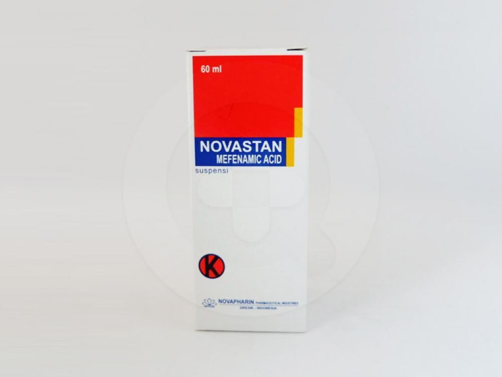 Novastan suspensi 60 ml obat antiinflamasi non-steroid yang digunakan untuk mengobati nyeri ringan sampai sedang.