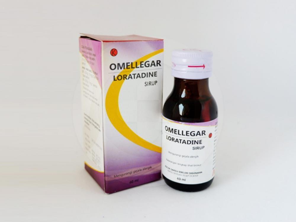 Omellegar sirup 60 ml mengurangi gejala-gejala yang berkaitan dengan rhinitis alergi dan urtikaria kronik