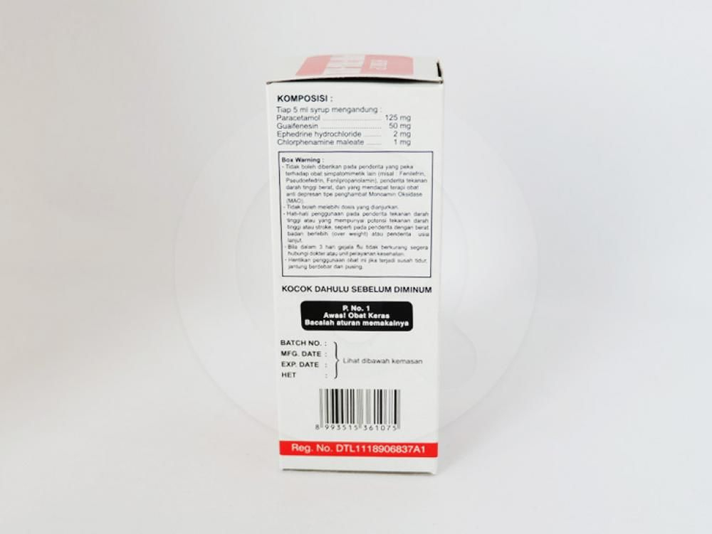 Pimtrakol sirup 60 mladalah obat untuk meringankan gejala-gejala flu seperti demam, sakit kepala, hidung tersumbat, dan bersin yang disertai batuk.