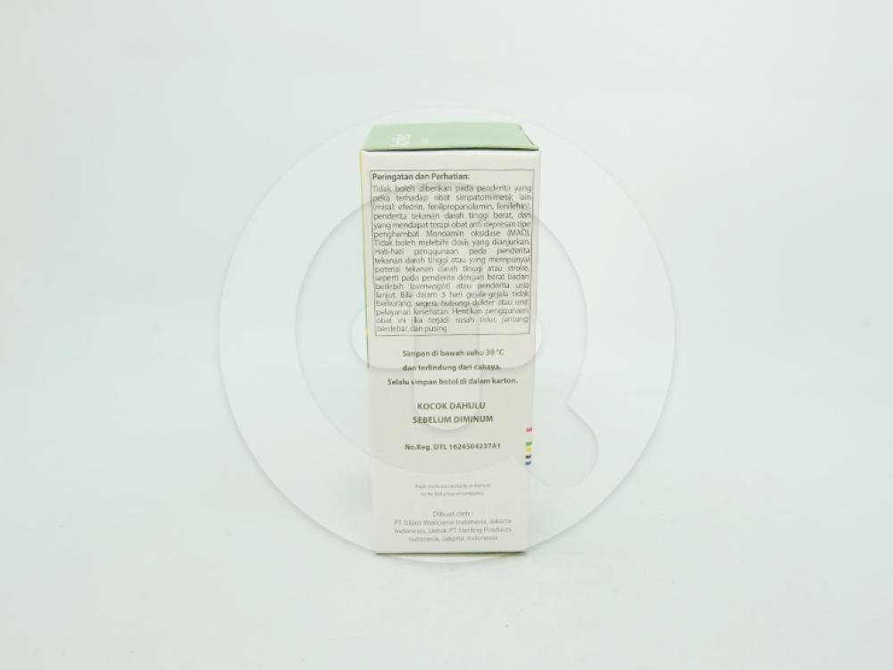 Actifed plus expectorant sirup 60 ml untuk meringankan pilek dan batuk berdahak.