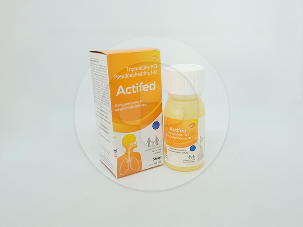 Actifed sirup 60 ml untuk meringankan pilek dan alergi pernafasan hidung.