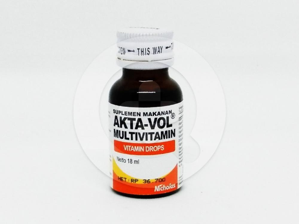 Akta-Vol Drops 18 ml digunakan untuk membantu memenuhi kebutuhan vitamin anak.