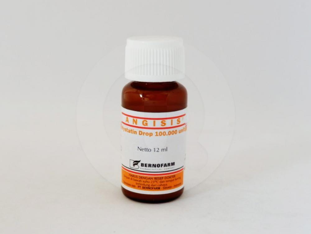 Angisis tetes 12 ml obat yang digunakan untuk mengobati masalah infeksi jamur seperti di rongga mulut, tenggorokan.