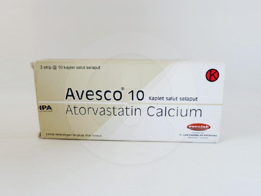 Avesco kaplet 10 mg adalah obat yang digunakan sebagai tambahan diet untuk mengurangi peningkatan kolesterol.