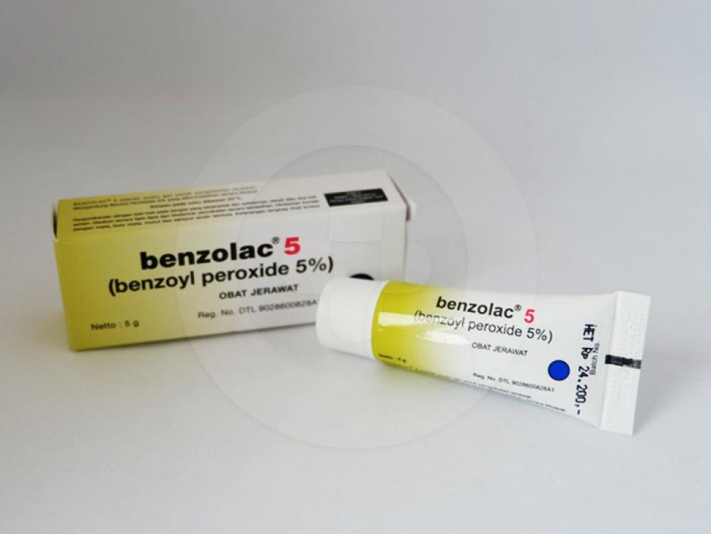 Benzolac 5% krim 5 g obat untuk membantu pengobatan jerawat.