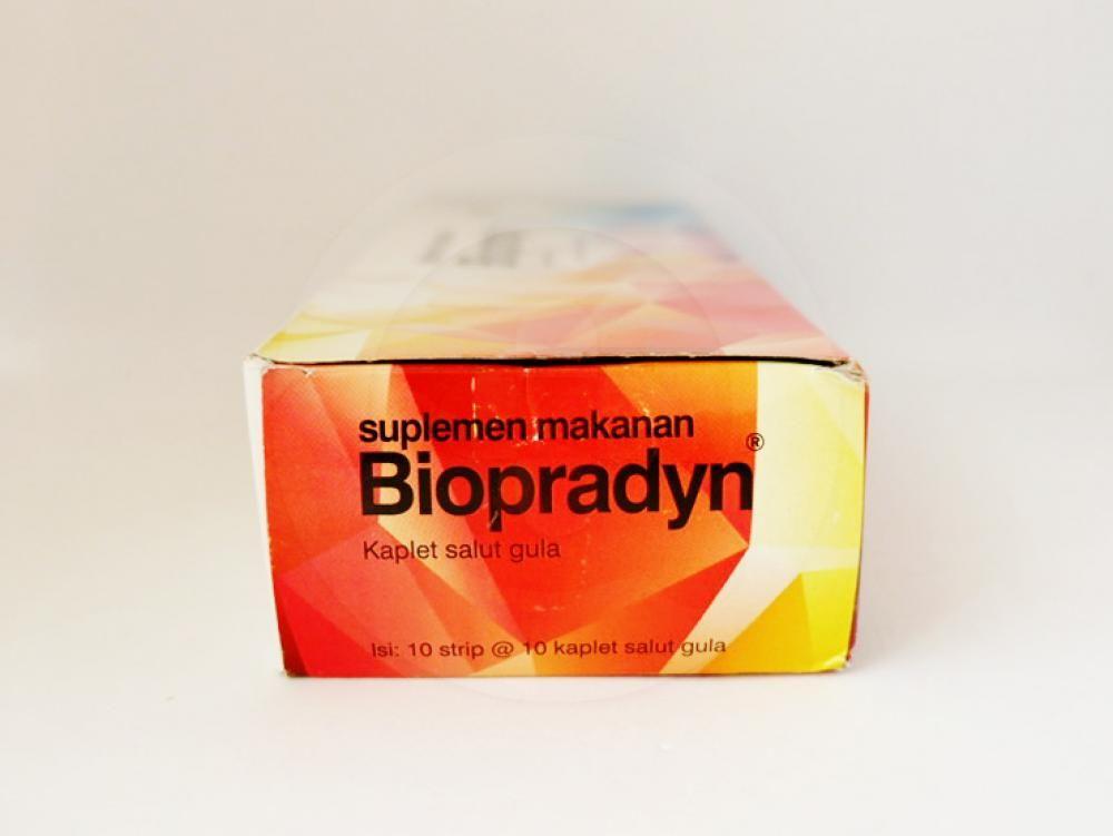 Biopradyn kaplet untuk suplementasi vitamin dan mineral untuk membantu memelihara kesehatan.