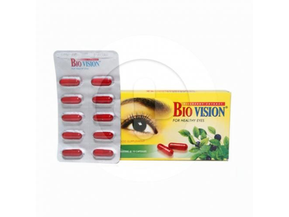 Biovision kapsul adalah suplemen untuk memelihara kesehatan mata.