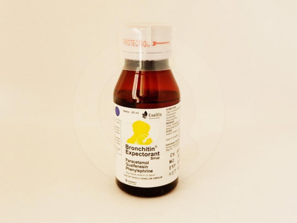 Bronchitin sirup 60 ml adalah obat yang digunakan untuk meredakan gejala demam, hidung tersumbat, dan batuk berdahak.