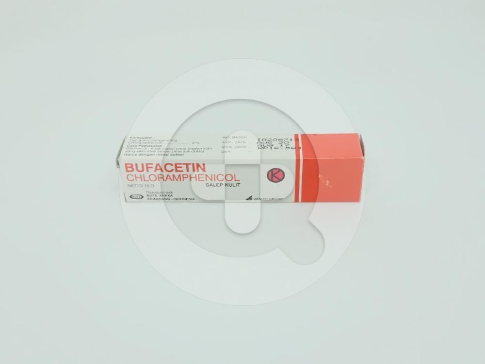 Bufacetin Krim 15 g untuk mengatasi infeksi pada kulit yang disebabkan oleh bakteri.