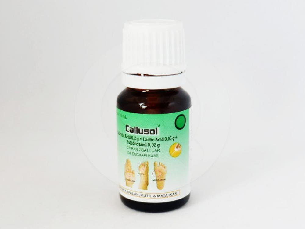 Callusol cairan 10 ml obat untuk mengobati mata ikan, mengobati kapalan (kalus), kulit yang mengeras, kutil.