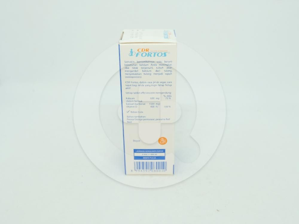 CDR fortos tablet berguna sebagai suplementasi kalsium dan vitamin D.