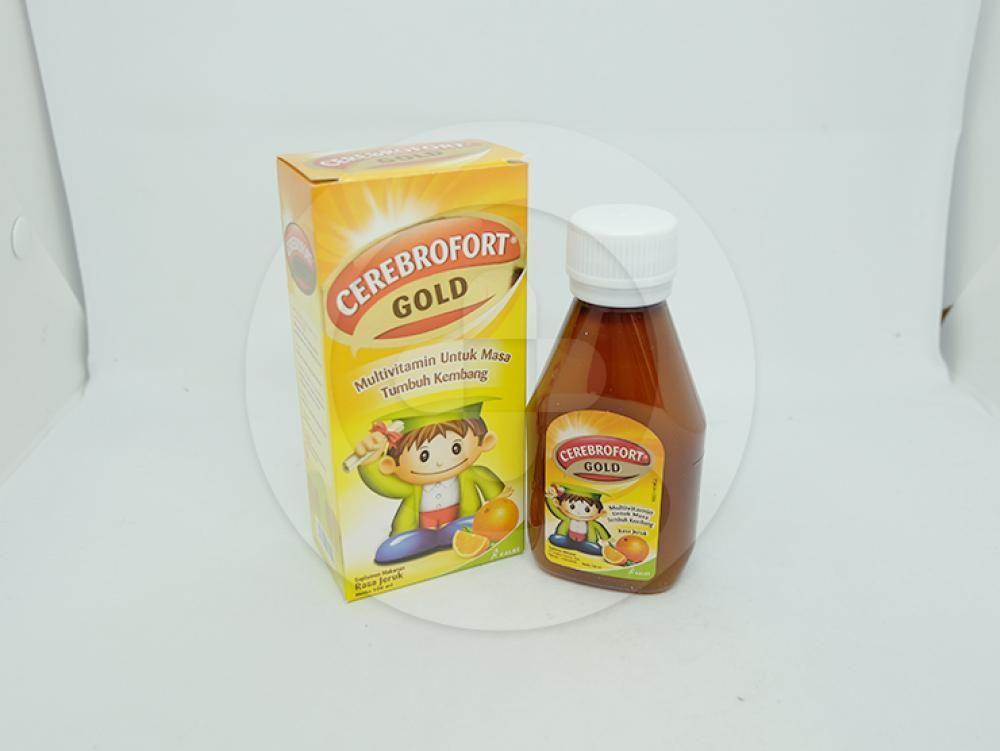 Cerebrofort gold rasa jeruk sirup 100 ml merupakan suplementasi multivitamin.