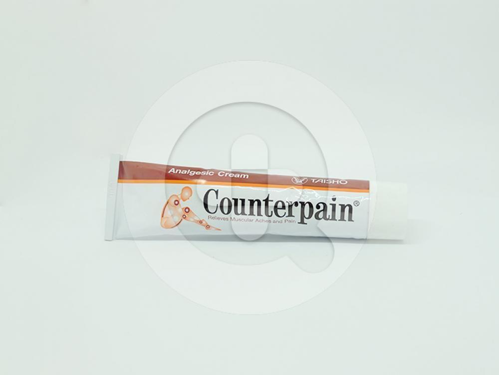 Counterpain krim merupakan krim analgesik untuk meringankan sakit pada otot nyeri sendi, keseleo dan nyeri akibat encok.