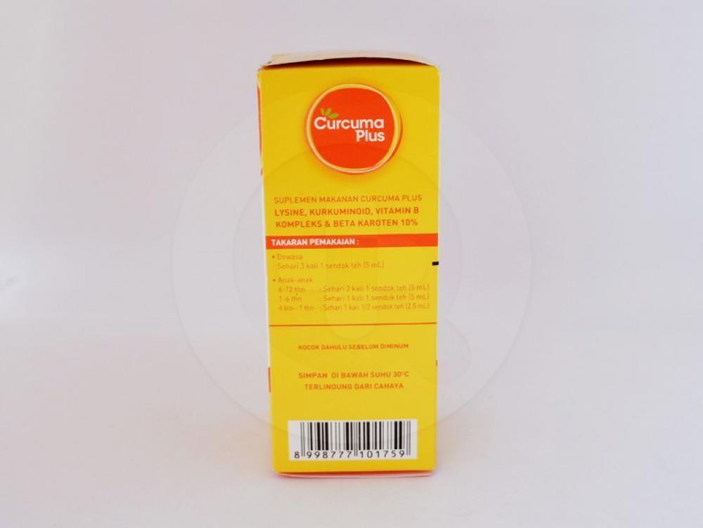 Curcuma plus 60 ml membantu memperbaiki nafsu makan.