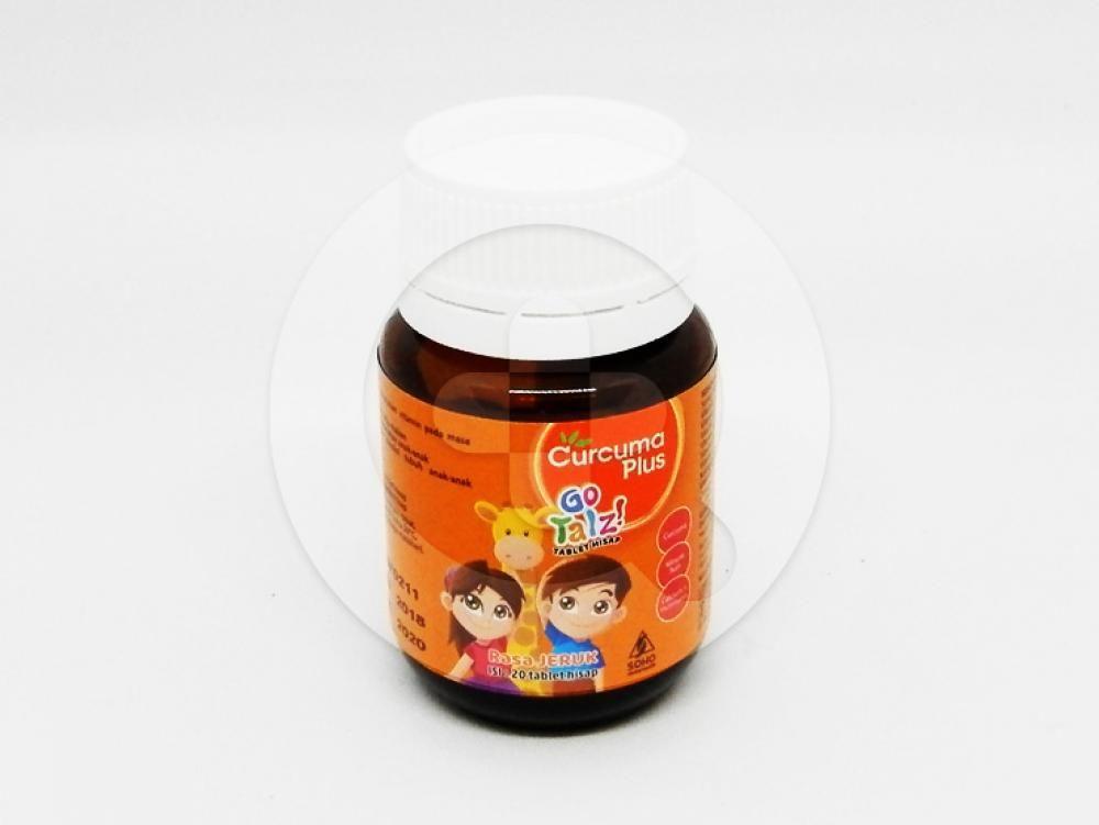 Curcuma Plus Go Talz Tablet Hisap Rasa Jeruk adalah suplemem makan yang  untuk anak-anak.