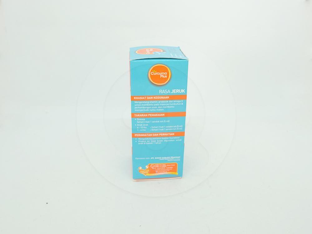 Curcuma plus sharpy rasa jeruk sirup 60 ml adalah suplemen untuk membantu memperbaiki nafsu makan.