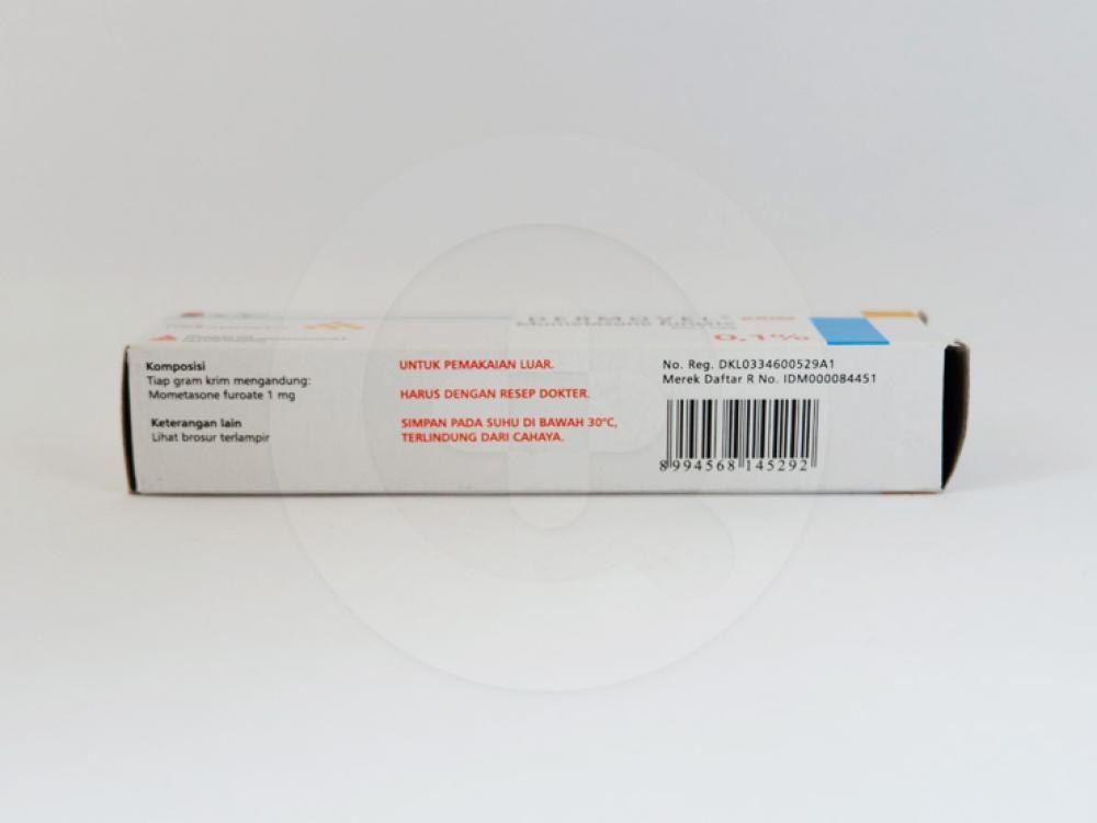 Dermovel 0,1% krim 10 g obat untuk meringankan gejala inflamasi dan pruritus.