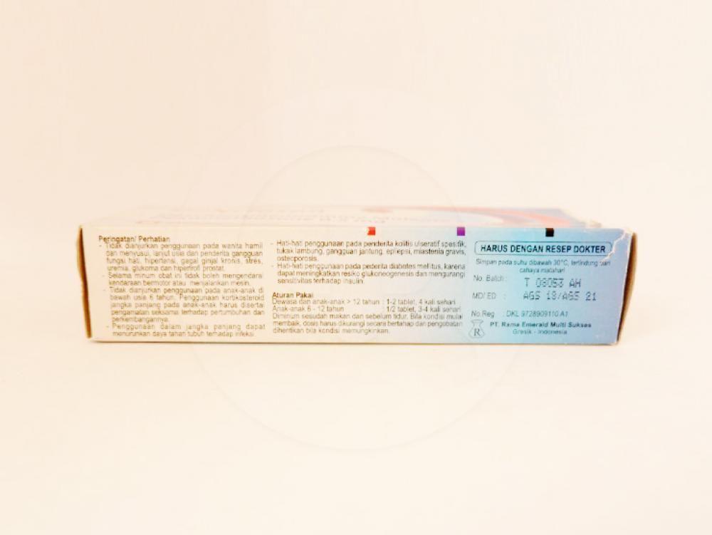 Dexclosan tablet obat untuk mengatasi kasus-kasus alergi dimana diperlukan terapi dengan kortikosteroid.