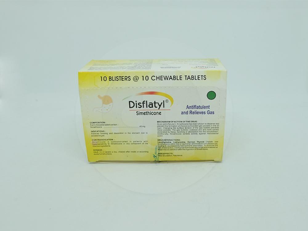 Disflatyl tablet adalah obat untuk meredakan kembung dan rasa tidak nyaman diperut.