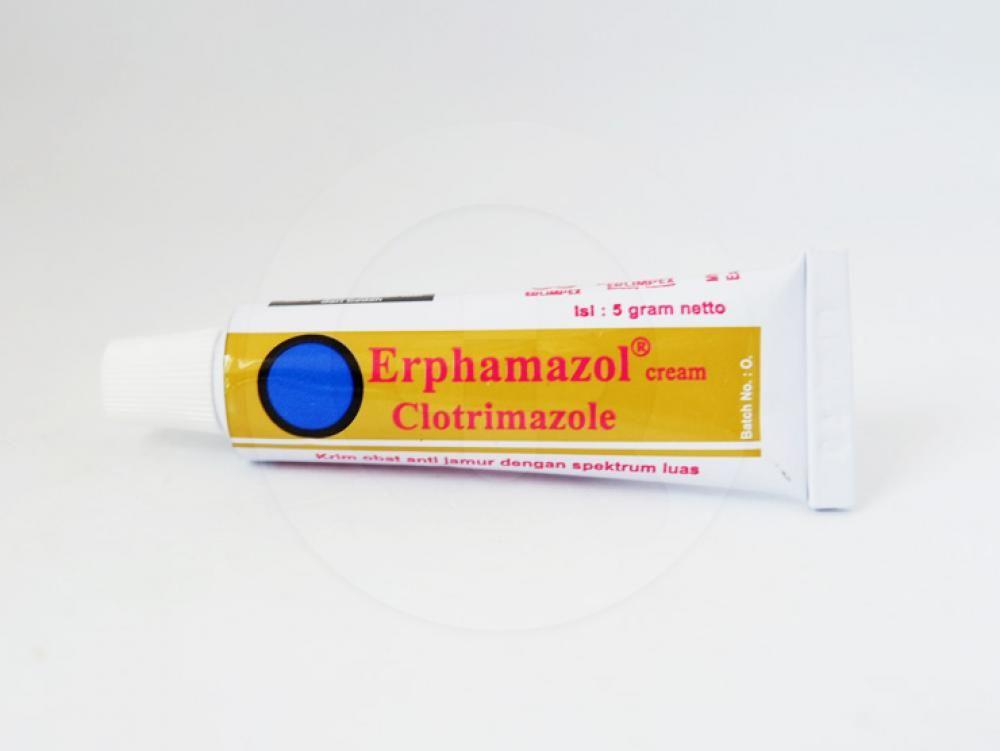 Erphamazol 1 % krim 5 g adalah obat yang digunakan untuk pengobatan dermatofitosis atau penyakit yang diakibatkan oleh jamur.
