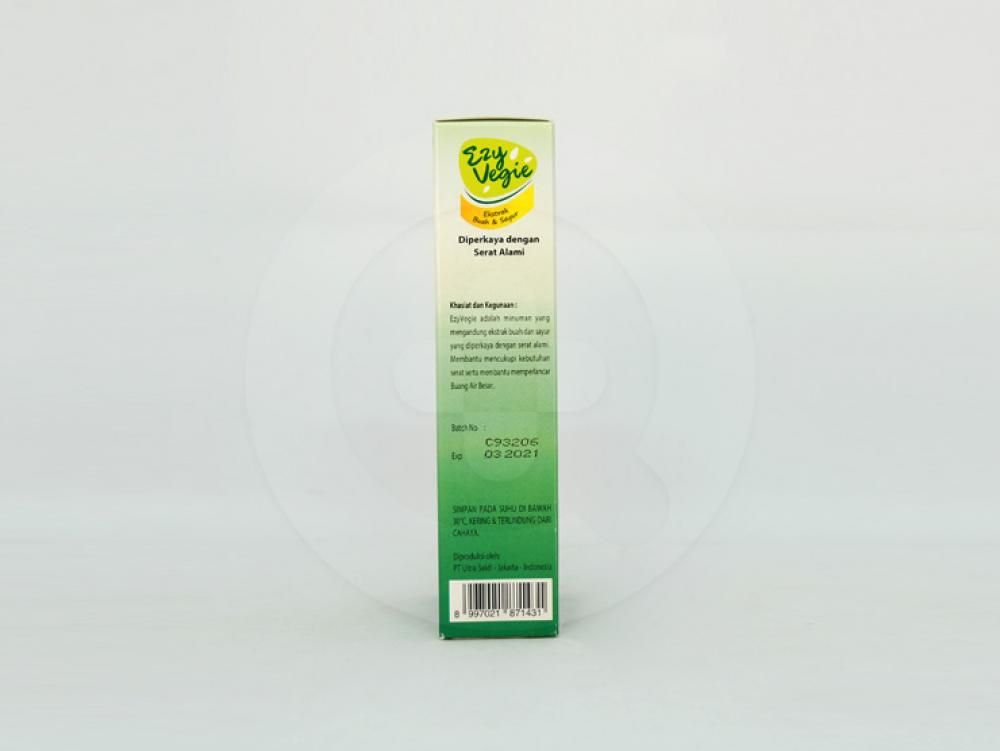 Ezy vegie bubuk 10 g membantu mencukupi kebutuhan serat dan membantu memperlancar buang air besar.