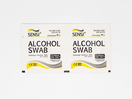 Alkohol swab kain seka digunakan untuk antiseptik untuk persiapan kulit sebelum injeksi