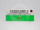 Cedocard digunakan untuk mengobati angina pektoris dan gangguan angina setelah infark miokard