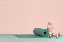 Beberapa contoh alat fitness murah yang bisa digunakan di rumah adalah matras yoga dan dumbbell