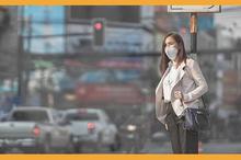 Gunakan masker untuk kurangi dampak pembakaran bahan bakar.