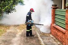 Fogging untuk membasmi nyamuk DBD