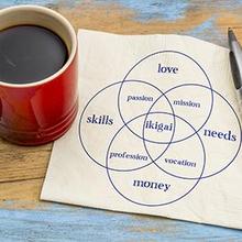 Konsep IKIGAI adalah gagasan yang mengatakan bahwa kebahagiaan dalam hidup lebih dari sekedar uang, jabatan, dan kemewahan
