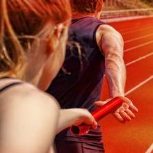 Lari estafet adalah cabang olahraga lari yang menggunakan tongkat sebagai alat lomba
