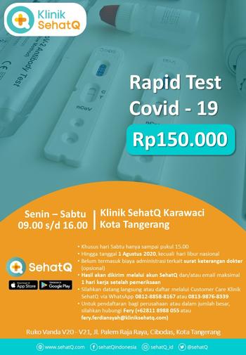 Rapid Test COVID-19 - Klinik SehatQ (Karawaci)