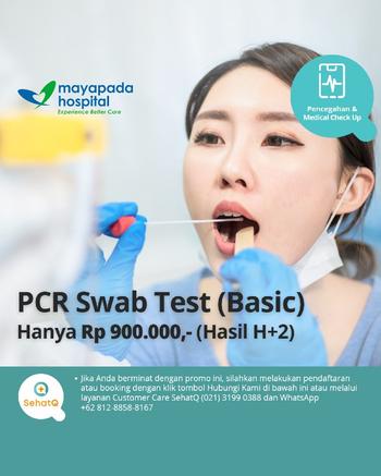 PCR Swab Test COVID-19 Basic (Hasil 2 Hari) - Mayapada Hospital