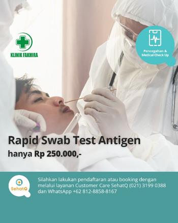 Rapid Swab Test Antigen COVID-19 - Klinik Fakhira