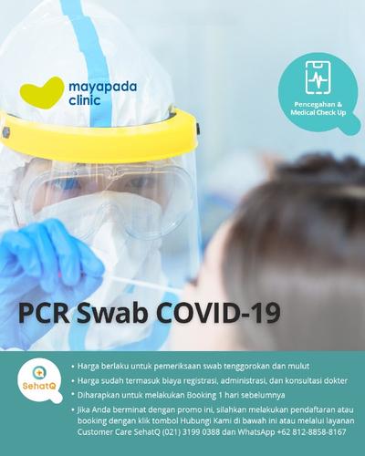 PCR Swab COVID-19 (Hasil 1 Hari) - Mayapada Clinic di ...