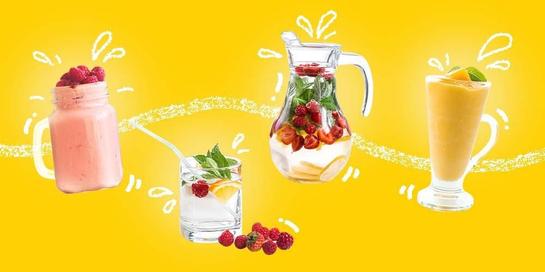 Smoothies dan jus buah adalah beberapa contoh minuman segar saat buka puasa