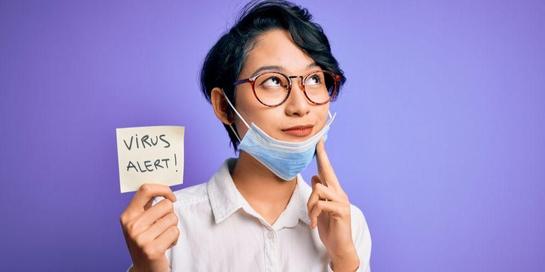 Pakai masker di dagu sampai ke leher bisa meningkatkan risiko penularan virus corona