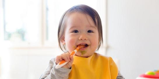 Makanan bayi 8 bulan bisa mulai diberikan dalam bentuk sedikit padat