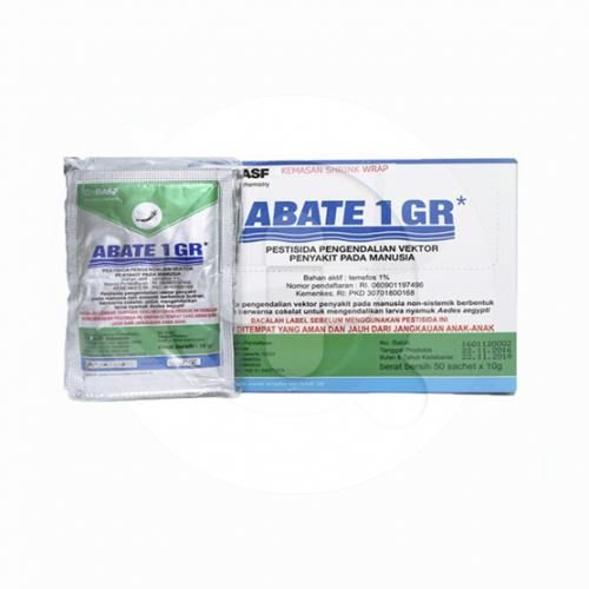 Abate sachet adalah pestisida yang digunakan untuk membasmi jentik nyamuk demam berdarah.