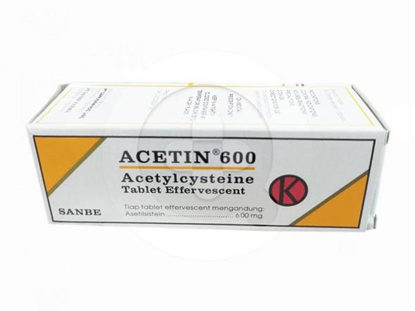 Acetin 600 tablet effervescent digunakan untuk mengobati infeksi saluran napas yang ditandai dengan terdapatnya lendir yang kental dan lengket secara berlebih.