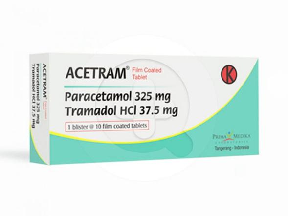 Acetram tablet digunakan untuk meredakan nyeri sedang hingga berat.