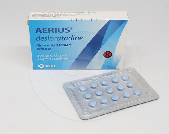 Aerius digunakan untuk meredakan gejala alergi rinitis dan gatal-gatal