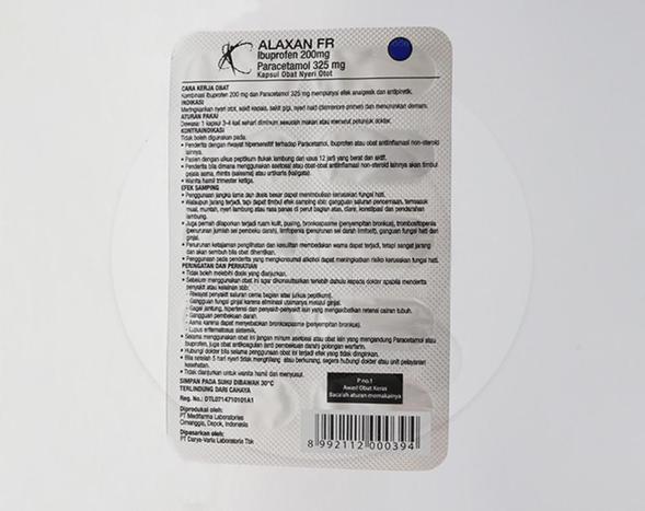 Alaxan FR digunakan untuk meringankan nyeri otot, sakit kepala, sakit gigi