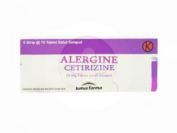 Alergine digunakan untuk mengobati rhinitis dan biduran.