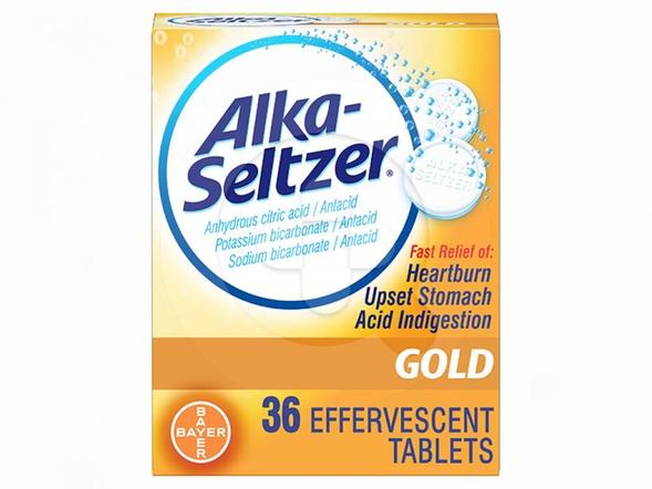 Alka-Seltzer Gold Tablet Effervescent digunakan untuk mengatasi sakit perut dan gangguan saluran pencernaan.