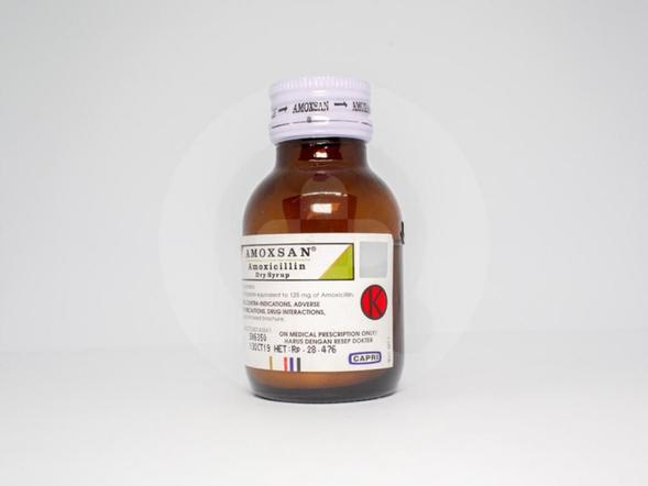 Amoxsan sirup kering adalah obat untuk mengatasi infeksi yang disebabkan bakteri